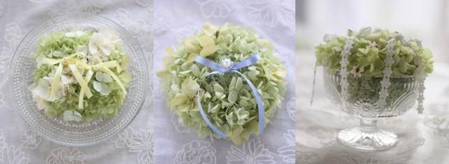 紫陽花のリングピロー