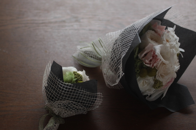 ラウンドブーケ・プリザーブドフラワー・花束風ラッピング