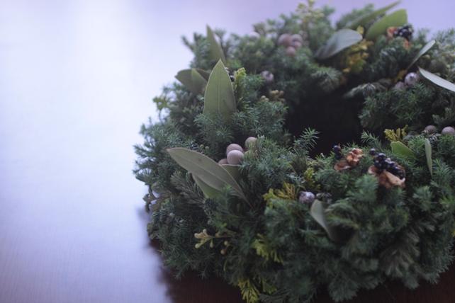 リース・生花・針葉樹・実・クリスマス