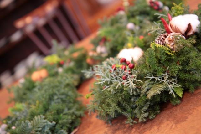 ワークショップ・針葉樹のクリスマスリース