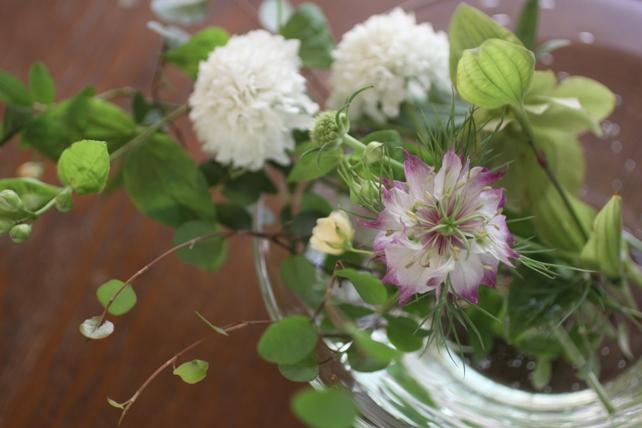 ワークショップ・ガラスの器で花あそび3