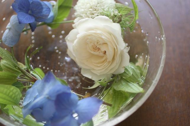 ワークショップ・ガラスの器で花あそび2