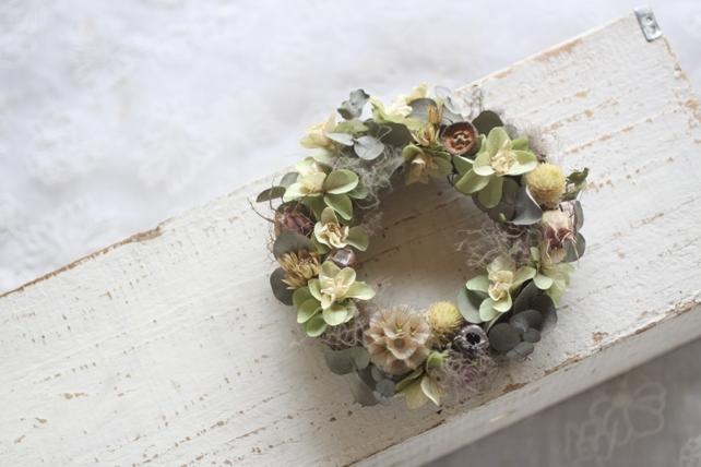 リース・ドライ・紫陽花とスモークツリー