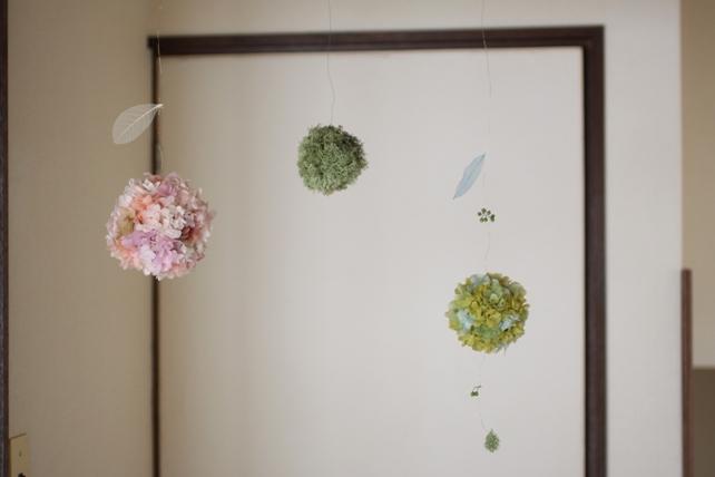 アレンジ・プリザーブドフラワー・紫陽花ボール