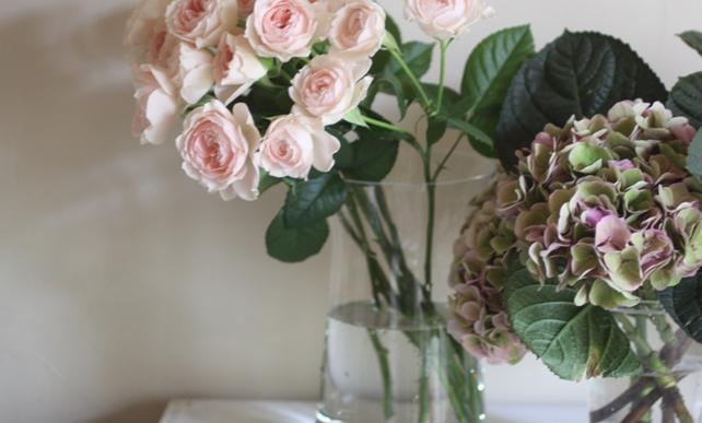 バラと紫陽花