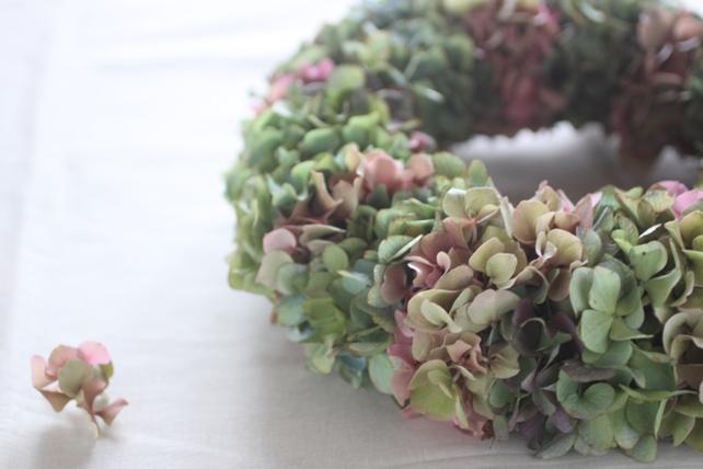 リース(生花)紫陽花リース2