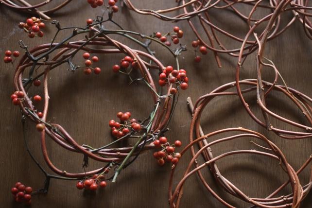 ワークショップ・サンキライと蔓のリース
