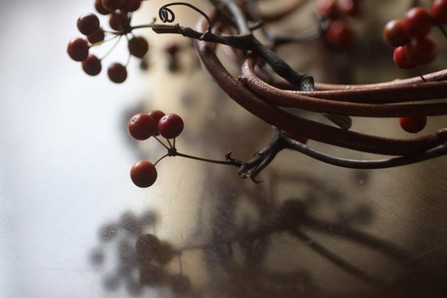 ワークショップ・サンキライと蔓のリース2