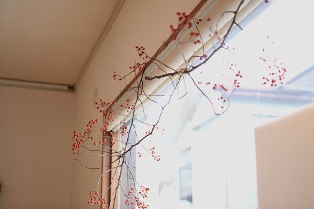 冬の贈りもの展・窓辺の飾り