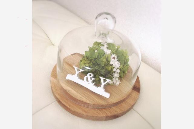 紫陽花のリングピロー・お客様写真2