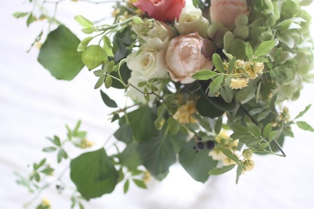 ワークショップ・紫陽花とバラのブーケづくり2016年