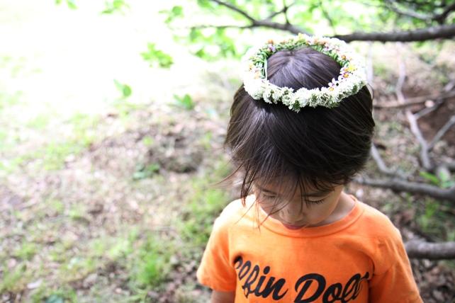 シロツメクサの花かんむり2