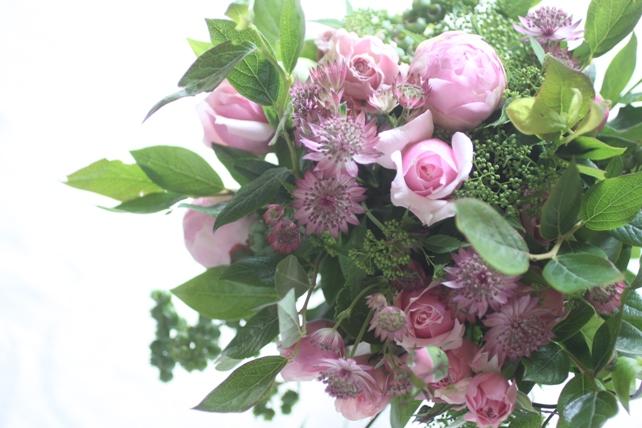花束(生花)ご両親への贈呈用花束ピンク系
