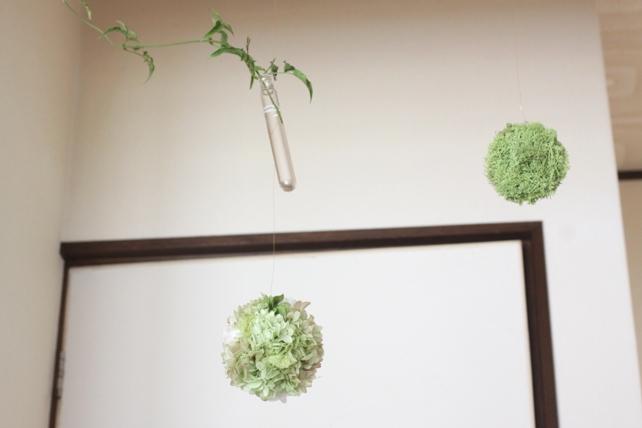 ワークショップ・紫陽花のゆらゆらボールと一輪挿し