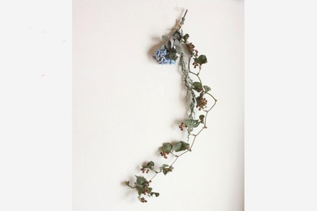 スワッグ(ドライ)サンキライと紫陽花