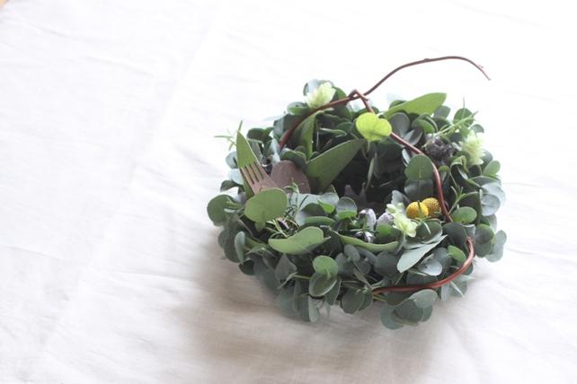 リース(生花)ハーブとユーカリの香るリース2