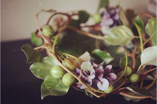 ワークショップ・秋色紫陽花のナチュラルリースづくり