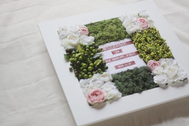 ウェルカムボード(アーティフィシャル)お花あふれるウェルカムボード