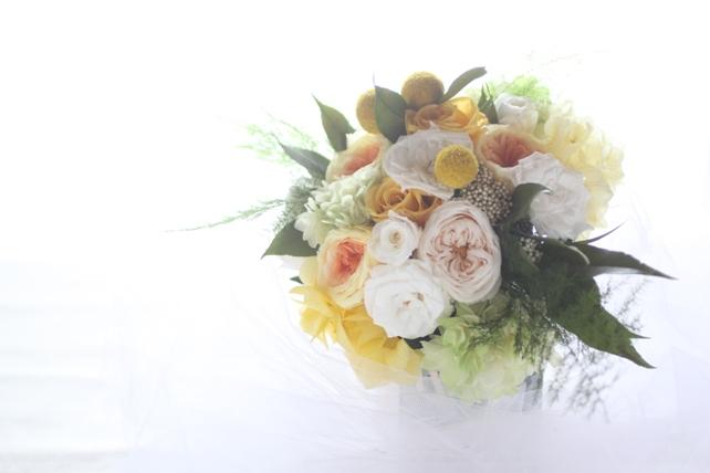 レッスン風景・プレゼント用の花束