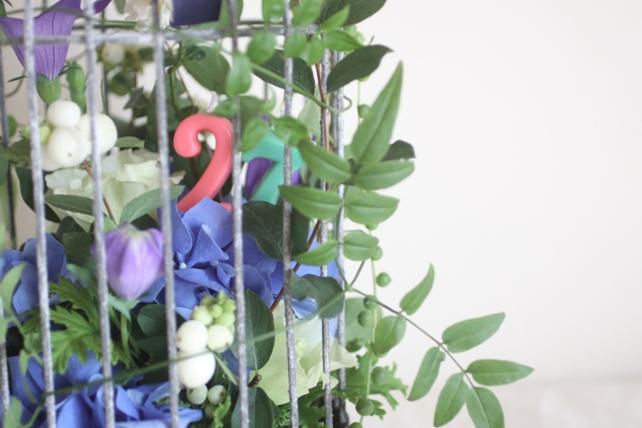 白と青の鳥かごのアレンジ2