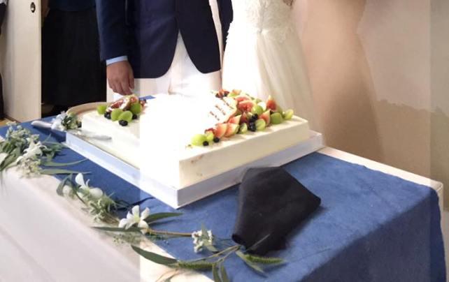 装花(生花)ケーキ台