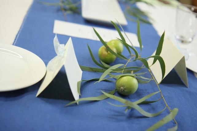 装花(生花)ゲストテーブル・ユーカリたっぷり森のような空間2