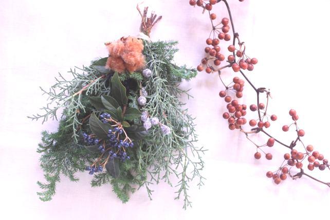 ワークショップ・針葉樹のクリスマススワッグ