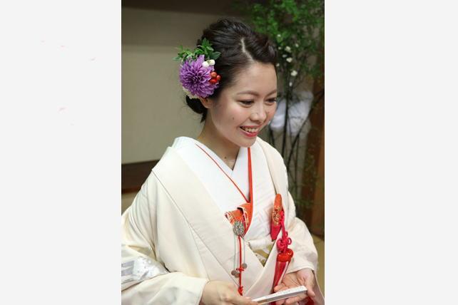 お客様写真・神前式・和装髪飾り