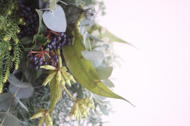 スワッグ(生花)針葉樹のグリーンスワッグ4