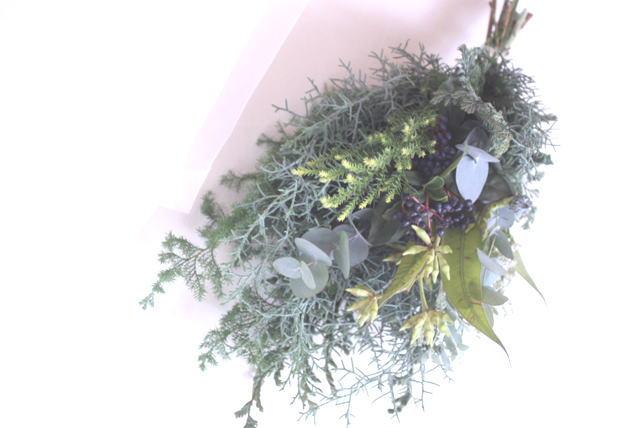 スワッグ(生花)針葉樹のグリーンスワッグ3