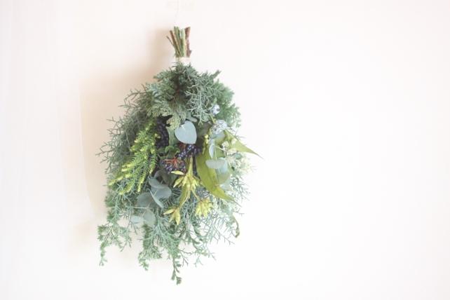 スワッグ(生花)針葉樹のグリーンスワッグ